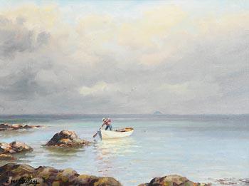 Charles J. McAuley, Fishing in Red Bay Co. Antrim at Morgan O'Driscoll Art Auctions