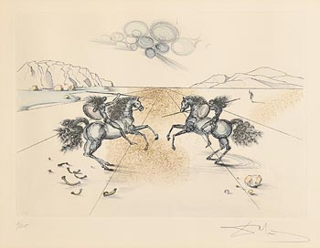 Salvador Dali, Los Caballeros at Morgan O'Driscoll Art Auctions