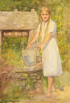 Frank McKelvey, Girl by the Well at Morgan O'Driscoll Art Auctions