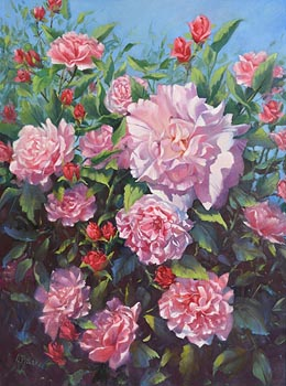 Annemarie Bourke, Summer Blooms at Morgan O'Driscoll Art Auctions