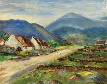 Gladys MacCabe, Cottages, West of Ireland at Morgan O'Driscoll Art Auctions