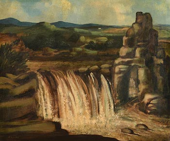 Daniel O'Neill, The Salmon Leap, Bunbeg, Co. Donegal at Morgan O'Driscoll Art Auctions