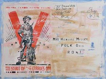 Neil Shawcross, American Revolution Postcard (2018) at Morgan O'Driscoll Art Auctions