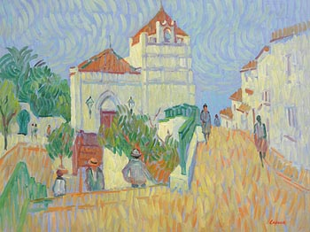 Desmond Carrick, Spanish Village at Morgan O'Driscoll Art Auctions