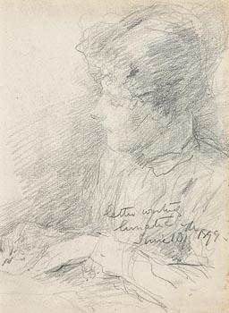 John Butler Yeats, Letter Writing Lunatic (1899) at Morgan O'Driscoll Art Auctions