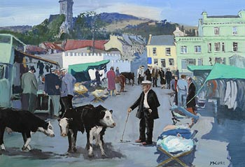 Cecil Maguire, Fair Day, Clifden at Morgan O'Driscoll Art Auctions