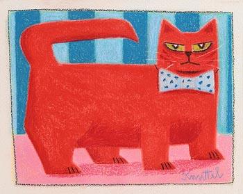 Graham Knuttel, Green Eyed Cat at Morgan O'Driscoll Art Auctions