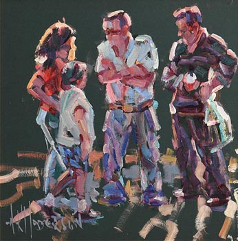 Arthur K. Maderson, Figures Against Evening Light at Morgan O'Driscoll Art Auctions