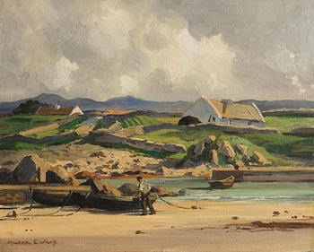 Maurice Canning Wilks, Fishing Harbour, Connemara at Morgan O'Driscoll Art Auctions