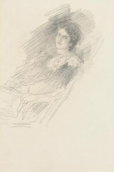 John Butler Yeats, Portrait of a Lady at Morgan O'Driscoll Art Auctions