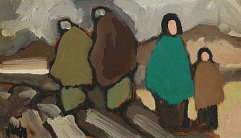 Markey Robinson, Shawlies at Morgan O'Driscoll Art Auctions