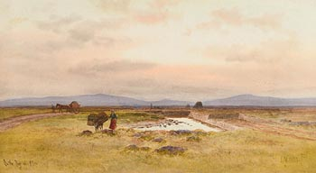Joseph William Carey, On the Bog of Allen (1921) at Morgan O'Driscoll Art Auctions