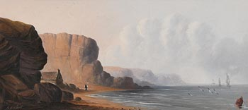 Andrew Nicholl, Scene on the North East Coast at Morgan O'Driscoll Art Auctions