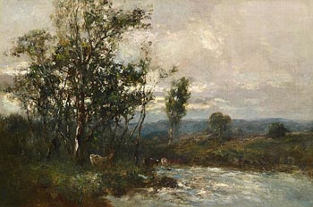 George Boyle, Cattle Grazing by the Stream at Morgan O'Driscoll Art Auctions
