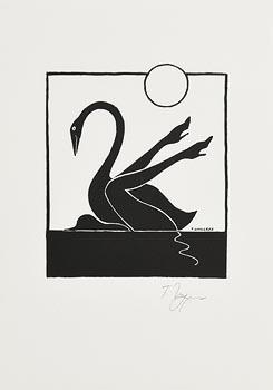 Tomi Ungerer, Leda und der Schwan at Morgan O'Driscoll Art Auctions