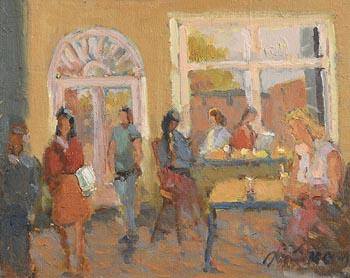Liam Treacy, Cafe Interior at Morgan O'Driscoll Art Auctions