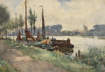 William Kay Blacklock, The Moorings (1905) at Morgan O'Driscoll Art Auctions