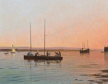 Padraig Lynch, Mermaids at Dusk, Skerries (2001) at Morgan O'Driscoll Art Auctions