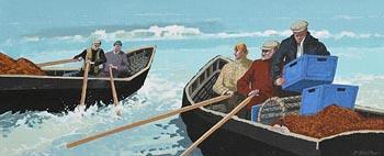 John Francis Skelton, First Off, Aran Fishers, Galway at Morgan O'Driscoll Art Auctions