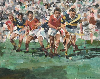 James LeJeune RHA (1910-1983), Cork V's Tipperary, All Ireland Hurling Final at Morgan O'Driscoll Art Auctions