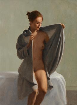 Harry Holland, The Grey Robe at Morgan O'Driscoll Art Auctions