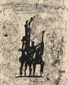 Edward Delaney, Hunters II (1969) at Morgan O'Driscoll Art Auctions