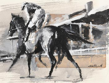 John Fitzgerald, The Curragh - Going Out at Morgan O'Driscoll Art Auctions