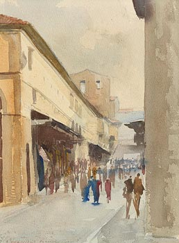Niccola d'Ardia Caracciolo, Ponte Vecchio, Florence (1980) at Morgan O'Driscoll Art Auctions