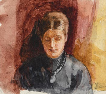 John Butler Yeats, Reading a Letter at Morgan O'Driscoll Art Auctions