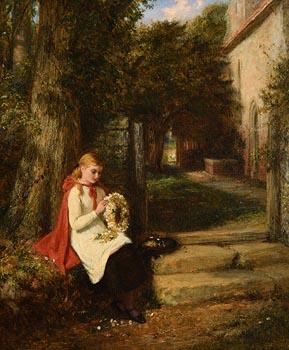 George Bernard O'Neill, The Garland of Daisies at Morgan O'Driscoll Art Auctions
