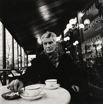 John Minihan, Samuel Beckett photographed in Cafe, Boulevard St Jacques, Paris 1985 at Morgan O'Driscoll Art Auctions