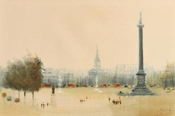 Anthony Robert Klitz, Trafalgar Square at Morgan O'Driscoll Art Auctions