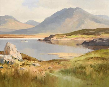 Maurice Canning Wilks, Morning, Lough Ballinhad, Connemara at Morgan O'Driscoll Art Auctions