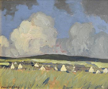 Paul Henry, Cottages in a Landscape, Kerry at Morgan O'Driscoll Art Auctions