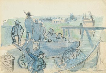 Jack Butler Yeats, Watching the Race at Morgan O'Driscoll Art Auctions