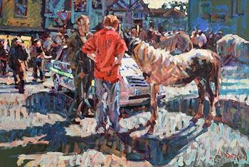 Arthur K. Maderson, Reflected Sunlight at Tallow Horsefair at Morgan O'Driscoll Art Auctions