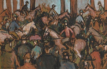 Gladys MacCabe, Races at Morgan O'Driscoll Art Auctions