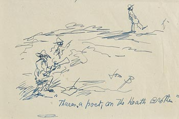 Jack Butler Yeats, There's a Poet on the Heath Brother at Morgan O'Driscoll Art Auctions