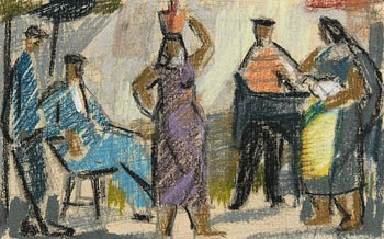 George Campbell, Spanish Folk at Morgan O'Driscoll Art Auctions
