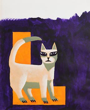 Graham Knuttel, The White Cat at Morgan O'Driscoll Art Auctions