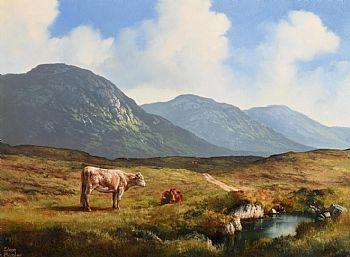 Eileen Meagher, Cows Grazing, Connemara at Morgan O'Driscoll Art Auctions