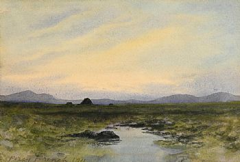 William Percy French, Evening O'er the Hills, Co. Donegal (1911) at Morgan O'Driscoll Art Auctions