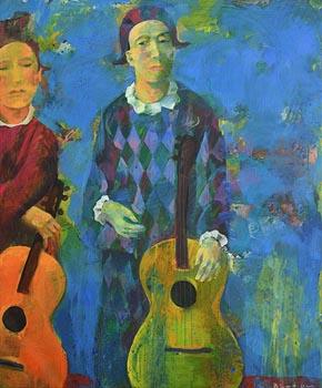 Andriy Bludov, Musical Duo at Morgan O'Driscoll Art Auctions