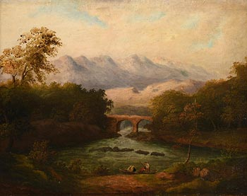 19th Century Irish School, Fishing on the River at Morgan O'Driscoll Art Auctions