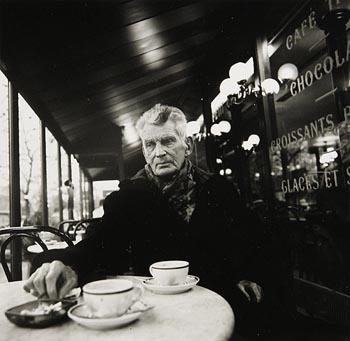 John Minihan, Samuel Beckett Seated in Cafe, Paris 1985 at Morgan O'Driscoll Art Auctions