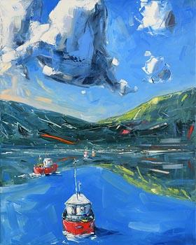 David Coyne, Coming into Harbour at Morgan O'Driscoll Art Auctions