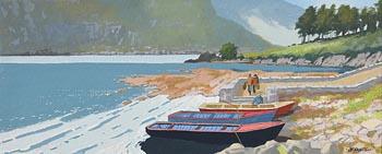 John Francis Skelton, The Fishing Party, Glencar, Co Leitrim at Morgan O'Driscoll Art Auctions