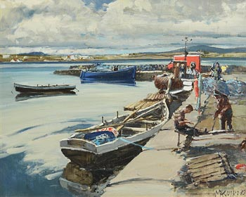 Cecil Maguire, Roundstone Harbour (1983) at Morgan O'Driscoll Art Auctions