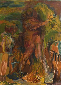 Barrie Cooke, Artist at Work (1958) at Morgan O'Driscoll Art Auctions