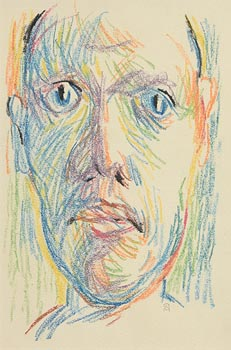 Colin Middleton, Head Study (1948) at Morgan O'Driscoll Art Auctions